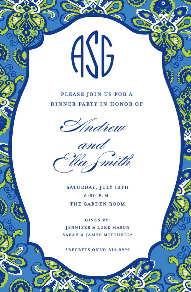 navy and gold wedding invitations