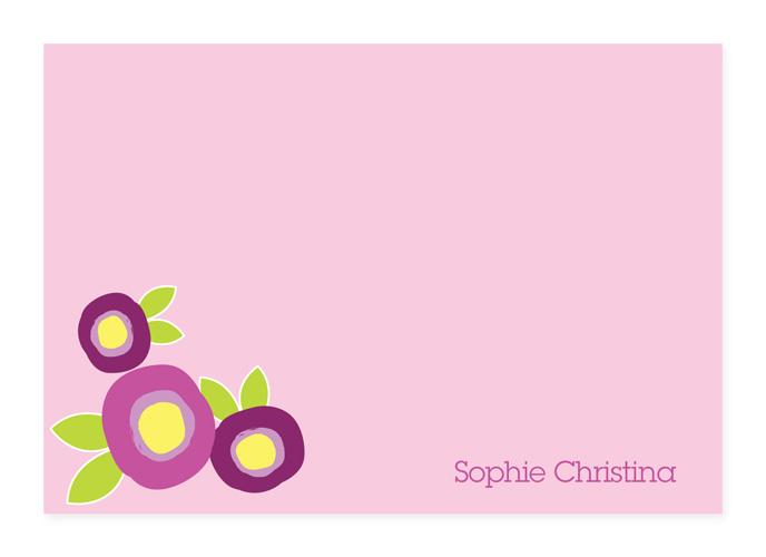 Modern Flowers Purple Note Card