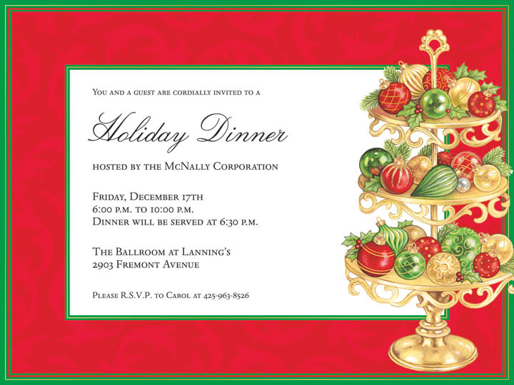 Christmas Ornament Exchange Invitation Wording with great invitation sample