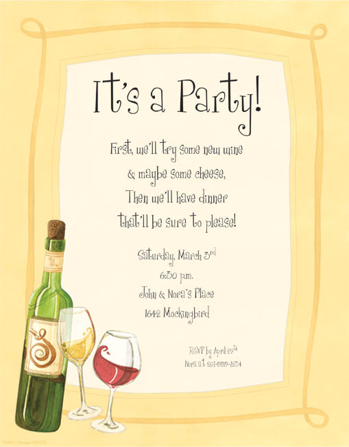 Wine Tasting Invite Wording – Wine Tasting Party Invitation Wording
