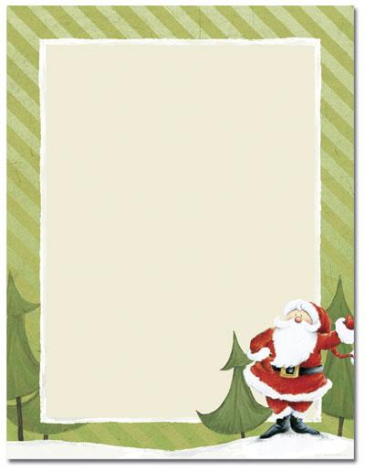 Jolly Santa Claus Laser Paper - Our festive Jolly Santa Claus holiday ...