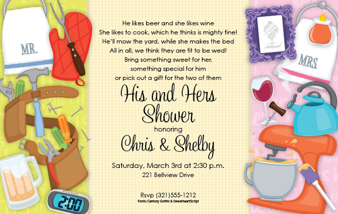 "Wedding Shower Invitations For Couples: ""Couples Wedding Shower Digital"