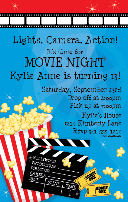 movie night invitation get your movie night off to a great start