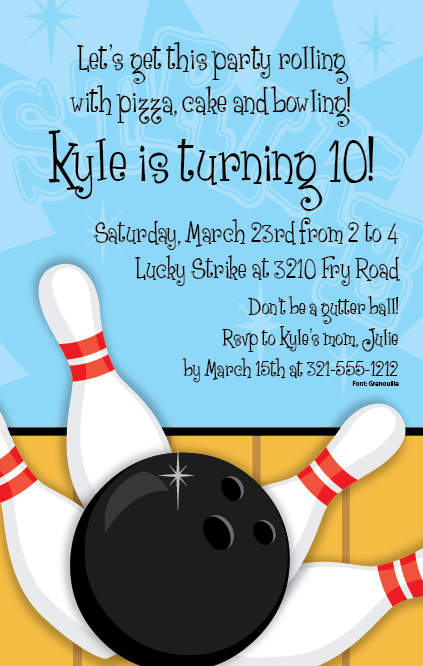 Funny Bowling Invitation Wording was great invitations layout