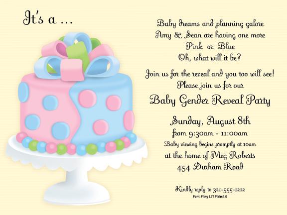 Quick View PIV1144 Gender Reveal Cake Invitation