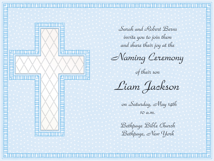 Baptism Invite Wording as nice invitation layout