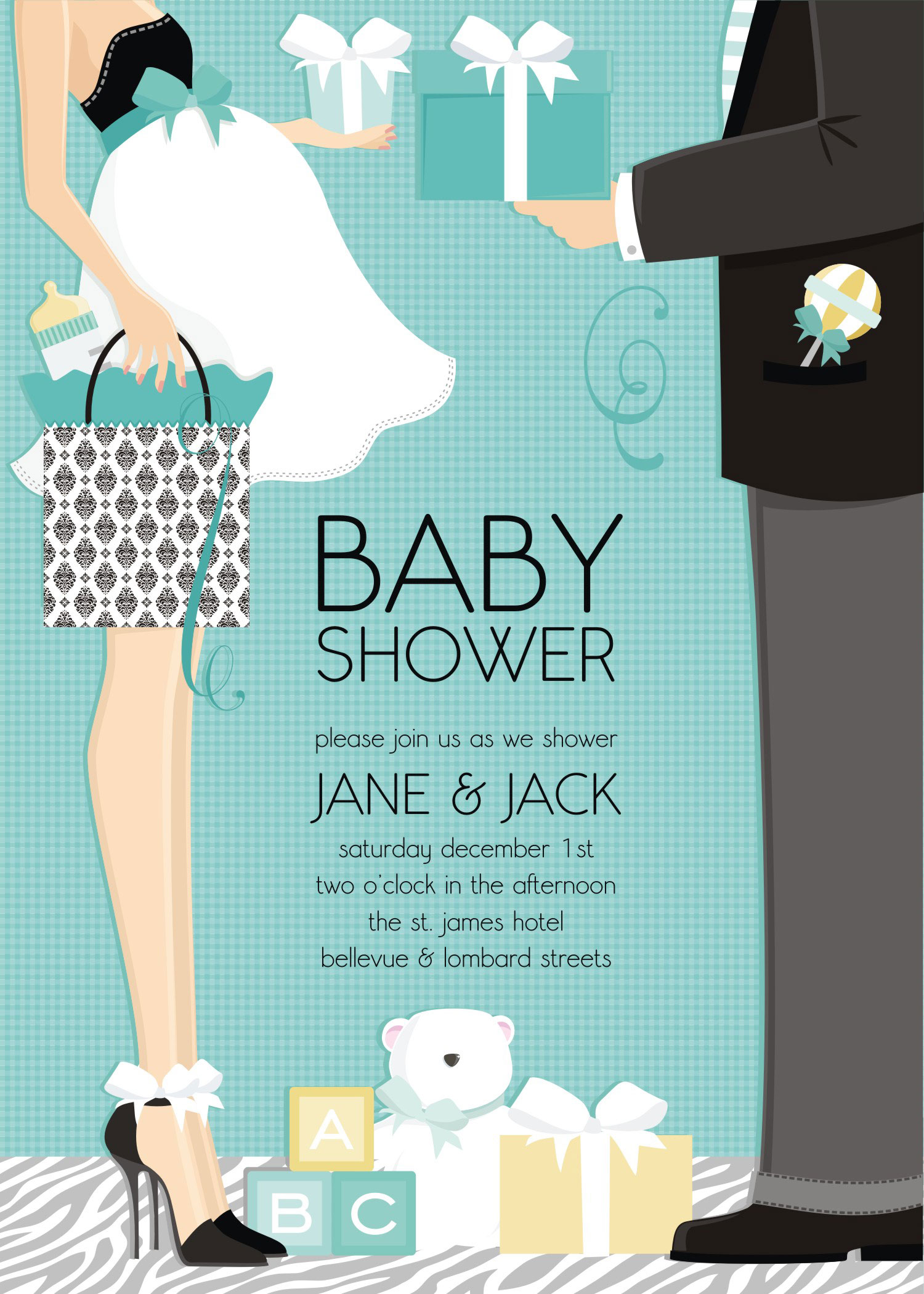 "Quick View - DM-IN-287 - ""Classic Couple Baby Shower ..."
