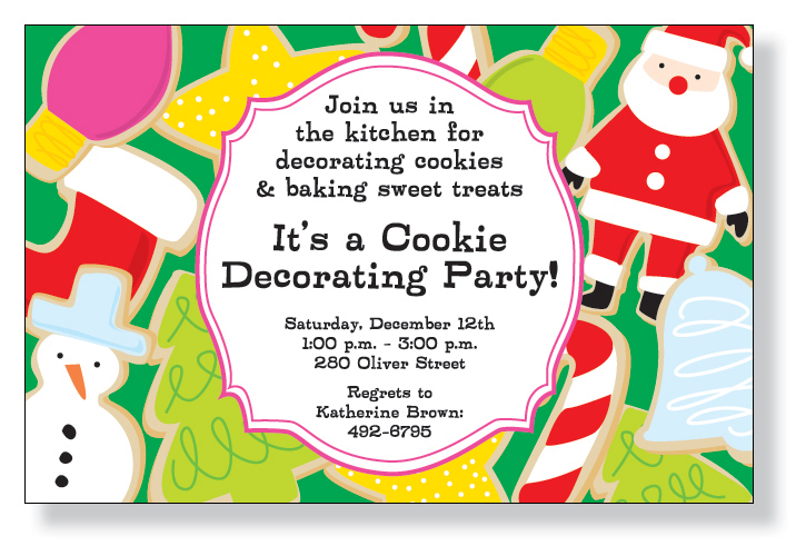 Quick View Z13771 Christmas Cookies – Cookie Decorating Party Invitations