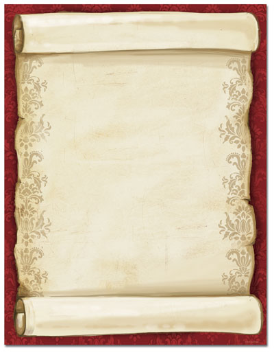Christmas Scroll Letterhead - This elegant holiday paper features a ...