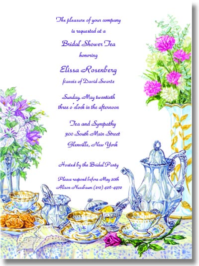 Quick View 8881 Tea Cup – Ladies Tea Party Invitations