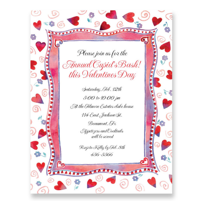 "Hearts & Curly Qs Paper  - A sweet border design covered in hearts, flowers, and swirls with a precious pink, red, and white border. Spread your love on Valentines day with this quality laser paper! You can use it to write individual Valentines notes, or even for a Valentines bash invitation.Make an impression with our premium quality designer 8 ½"" x 11"" paper & coordinating envelopes which are laser/inkjet compatible. Coordinating envelopes are sold separately."