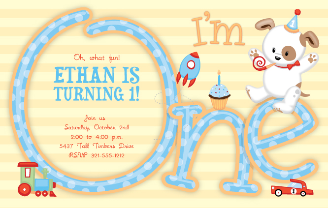 Puppy Party Invitation with perfect invitations example