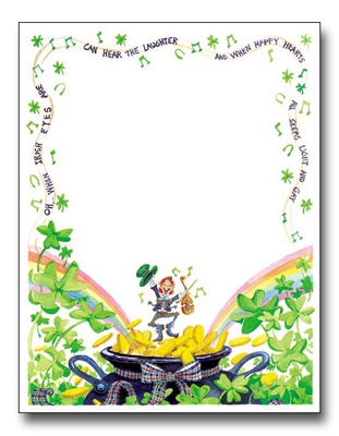 Jolly leprechaun paper everyone gets to be irish one day a year and