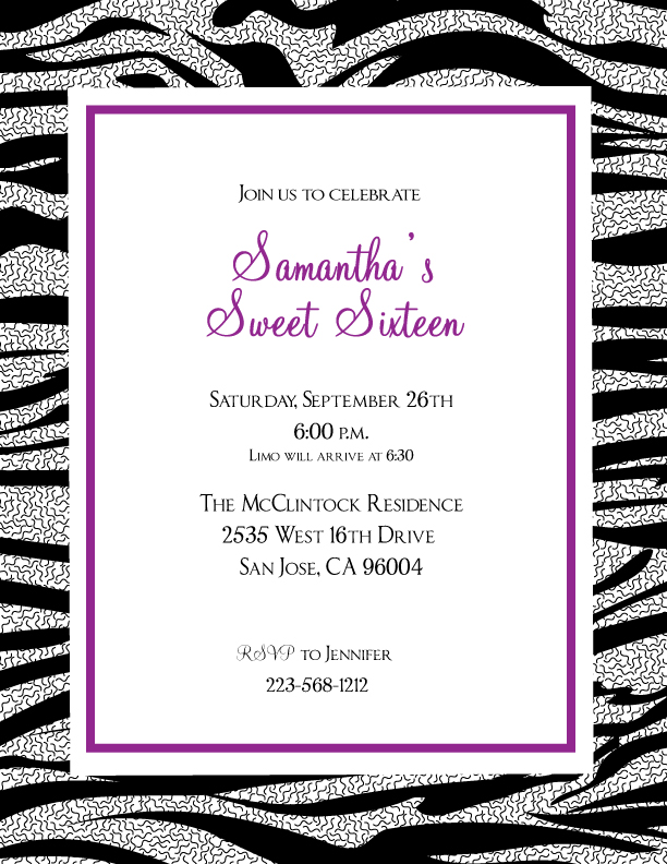 template for birthday invitations