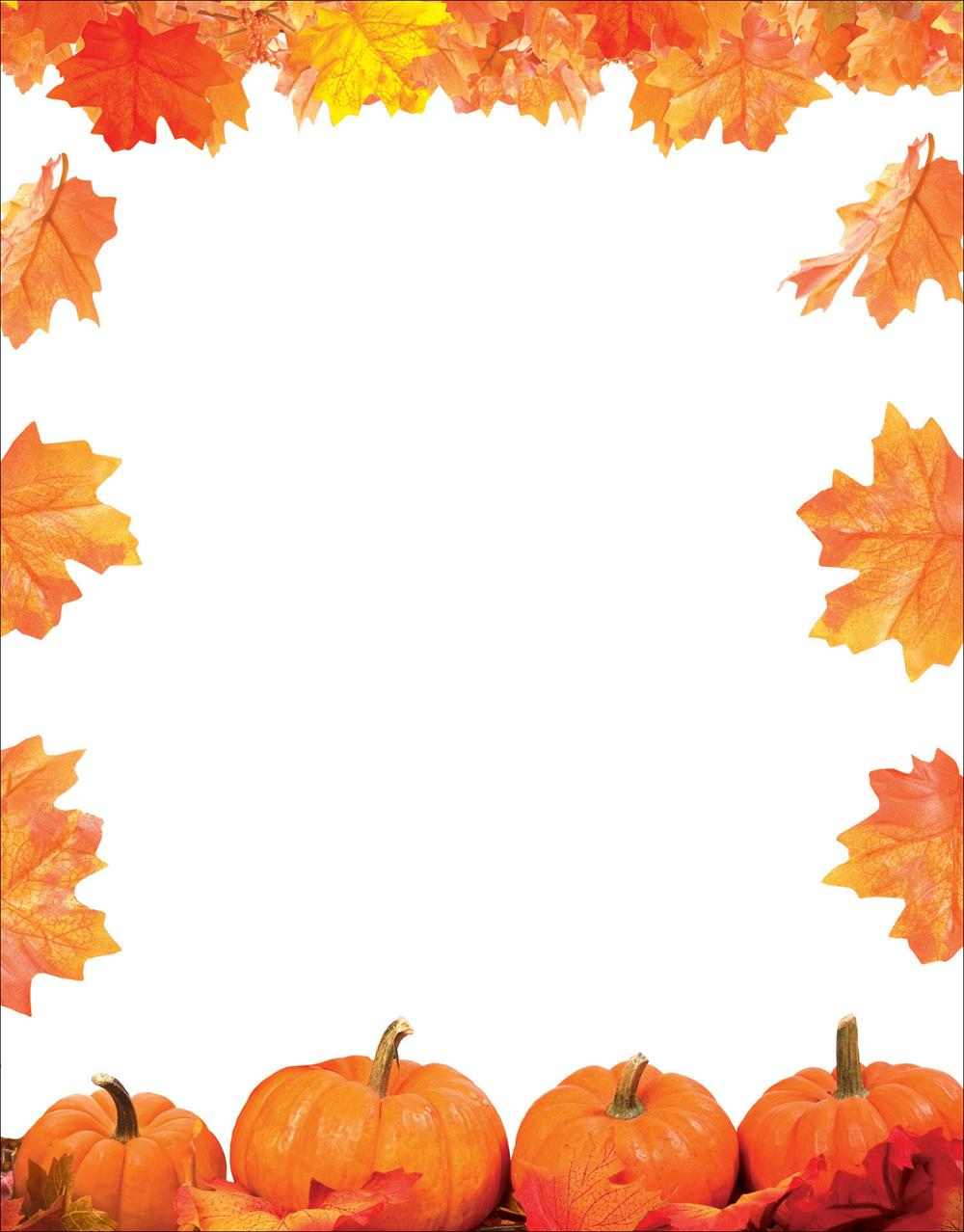 quick view slh123 pumpkin patch with leaves letterhead