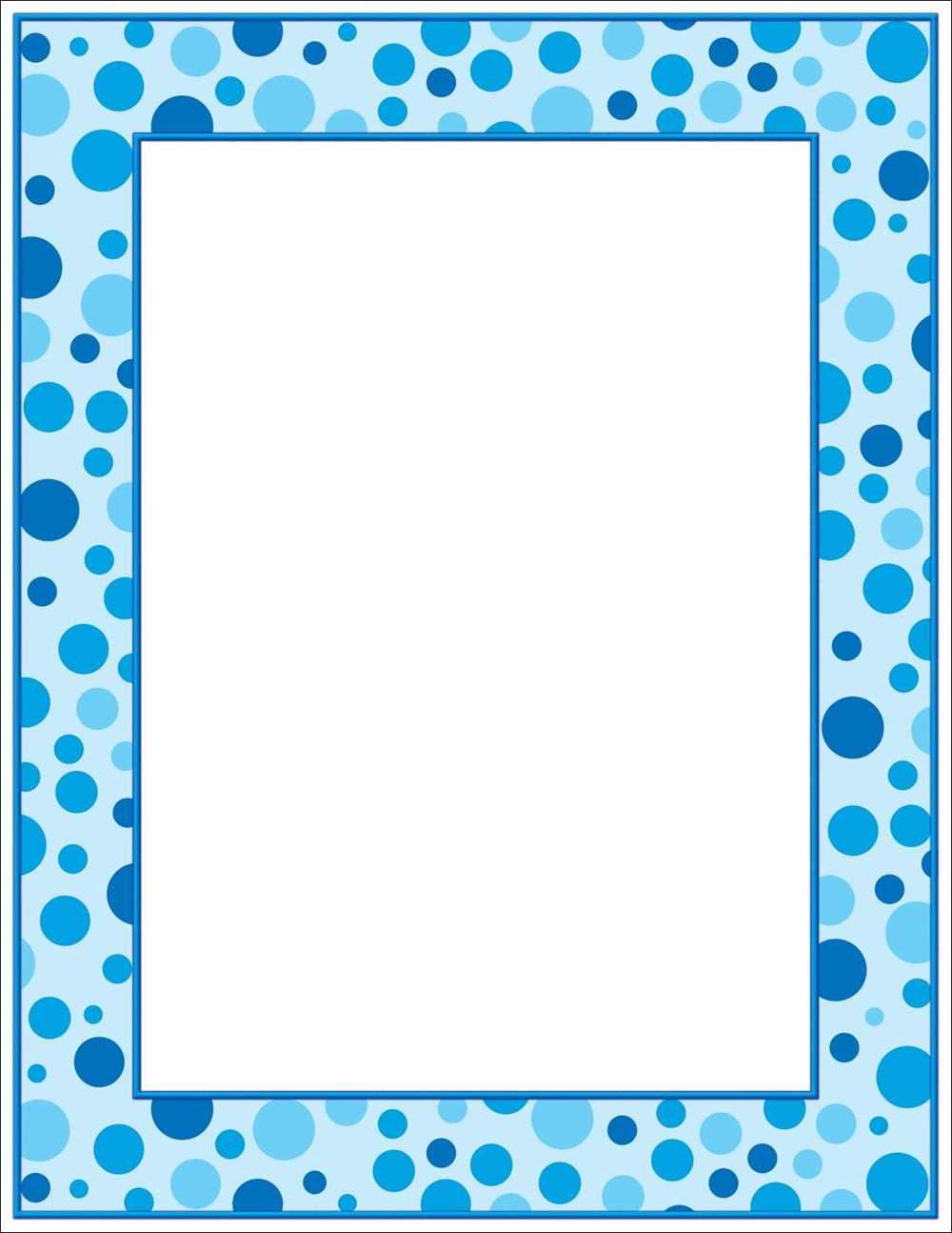 """Quick View - SLH797 - """"Blue Polka Dots Letterhead"""""""