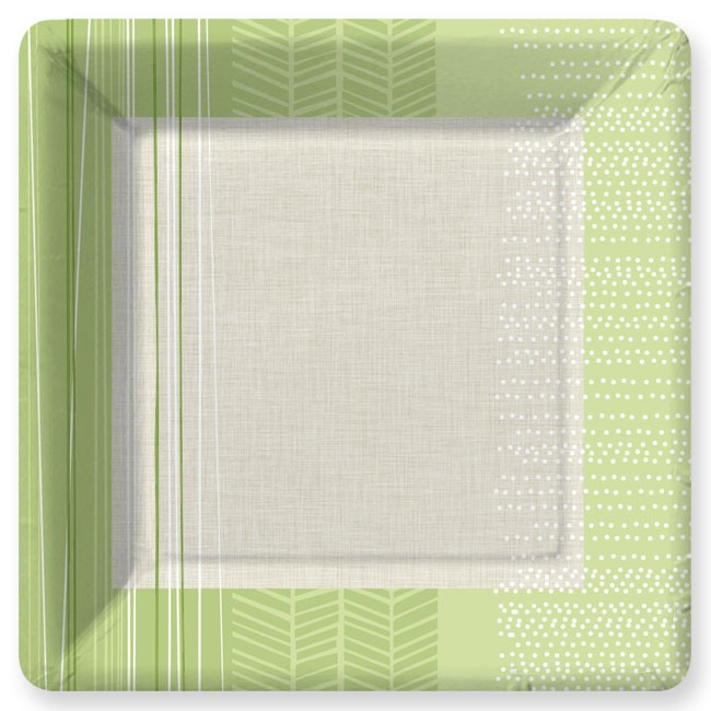 "Elements SeaGrass Green Dinner Plate  - Elements sea-grass green dinner plate dimensions are 10.25"" X 10.25"".  Minimum order is 24."
