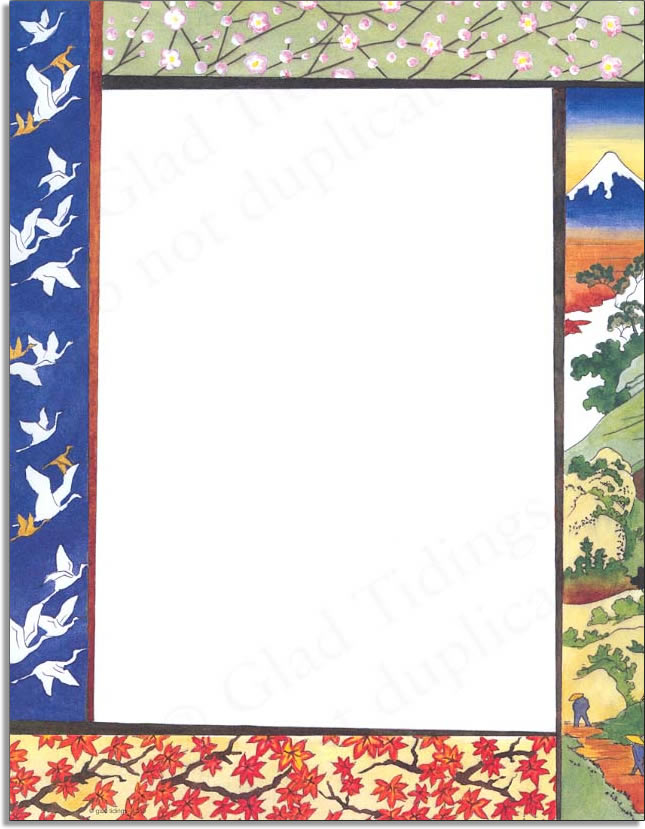 quick view gl359 quotjapanese border paperquot