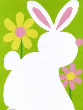 "A sweet Easter bunny paper!  This laser paper is decorated with the white cutout of a little rabbit resting among the flowers.  The background is a soft grassy green.  This simple design is too cute to resist for your Easter egg hunt or Easter party!<p>Make an impression with our premium quality colorful designer 8  ½"" x 11"" laser/inkjet paper which is easy to print on your printer!</p><p>A wide selection of solid color envelopes are also available to coordinate with all paper styles.</p>"