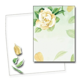 Make an impression with this beautiful Magnolia card. Premium quality cardstock includes coordinating envelope shown. Inkjet/laser compatible and available blank or personalized.