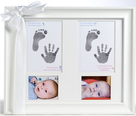 Treasured 11 X 14 Keepsake Frame Will Capture Your Precious Twins Handprints And Footprints Forever