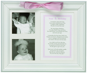 Treasured 8 X 10 Keepsake Frame Will Capture Your Childs First Birthday Envelope Attached