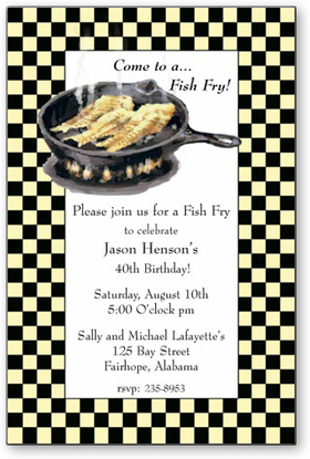 Invitations Birthday Guys Birthday Fish Fry