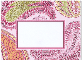 stylish and festive note card comes blank on outside and inside if ordering blank or - Personalized Embossed Note Cards