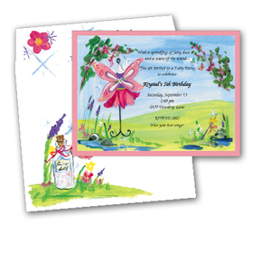 Colorful and fun design printed on premium quality 80# cardstock. <B>INCLUDES ENVELOPE WITH COORDINATING DESIGN!</B><P>Easy to print on your inkjet/laser printer (ORDER BLANK), or we can print for you (ORDER PERSONALIZED).</P>