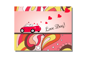 Great note for Valentines Day! this note card comes with coordinating envelope.  Comes blank inside.