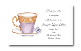 Simple yet elegant design on WHITE cardstock comes with or without the added touch of a tea bag tag and string.  If you would like to add this option please make request in the comments section.  Add $0.50 per card for upgrade.