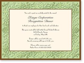 TEMP OUT OF STOCK<br><br><br>Stylish and Festive cardstock invitation includes white envelope.  Easy to print on your inkjet/laser printer or we can print for you.<p>