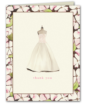 Chic and stylish folded note card is printed on premium quality white cardstock and white envelopes are included.  Glitter upgrade is available for an additional $0.50 per card.  Glitter is added to the top of the dress.