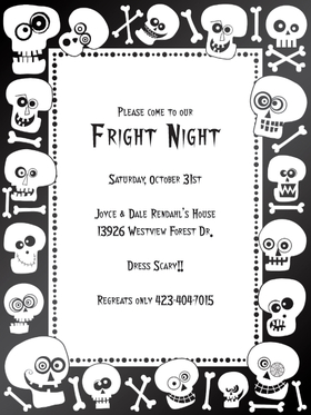 "Bonehead Laser Paper - Crossbones and skulls!  This crazy Halloween paper is decorated in cooky black and white skulls with bones scattered around. Its great for Halloween events and activities! Make an impression with our premium quality colorful designer Halloween themed 8  ½"" x 11"" laser/inkjet paper which is easy to print on your printer!A wide selection of solid color envelopes are also available to coordinate with all paper styles.  ENVELOPES ARE SOLD SEPARATELY."