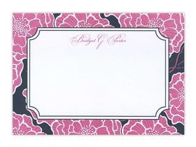 This Lilly Pulitzer pink with Navy flat card can be used as either an invitation or a correspondence card.  Pricing for each is shown below. Product can be purchased personalized only.   IF ordering as a correspondence card, text is limited to a name or Monogramed initials.  Includes white envelope.