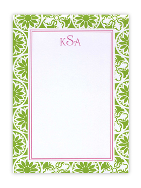 This Lilly Pulitzer Green designed themed card can be used as either an invitation or a correspondence card.  Pricing for each is shown below. Product can be purchased personalized only.   IF ordering as a correspondence card, text is limited to a name or Monogramed initials.  Includeds white envelope.