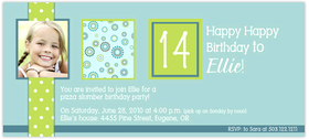 Fun and Simple Lime Polka Dot design digital photo card. printed on Premium #110 Cardstock. Includes white envelopes.
