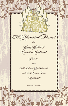 This stylish invitation is perfect for your dinner party or rehearsal dinner!  Available blank or personalized and Glitter Upgrade is available. Printed on FSC-certified Domtar Earth Family of papers and are acid free. Coordinating envelopes are included.
