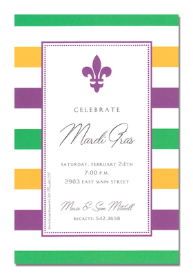 Invitations Mardi Gras Invitations Simple Fleur