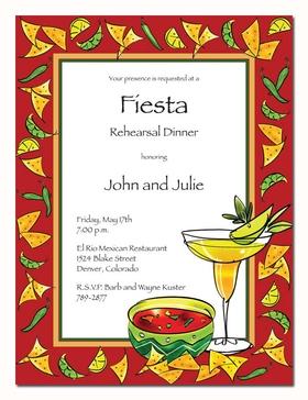 Invitations Fiesta Invitations Margarita Fiesta