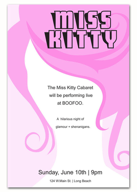 A Grand invitation for that Edgy adult costume party or Unique Event! This invitation has a silhouette of a feminine face and a Big and wild Pink hairdo.   Great for alternative adult parties !Printed on an 80# card stock. Includes white envelope.