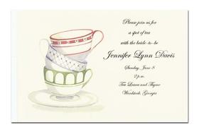 invitations baby shower invitations trio of stacked cups invitation