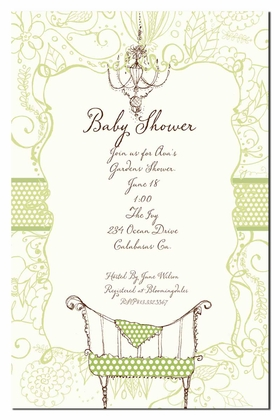 babies  children baby shower invitations polka dot cot invitation, Baby shower invitations