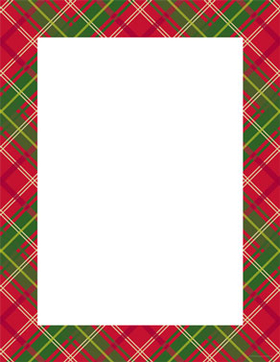 A great holiday plaid letterhead paper that is sure to make a great impress for the season!  This red, green and white plaid paper also has coordinating envelopes- sold seperately.