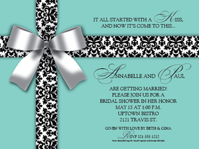Invitations birthday surprise birthday white bow on blue digital a bright and fun invitation that is designed with a tiffany blue background and an elegant filmwisefo