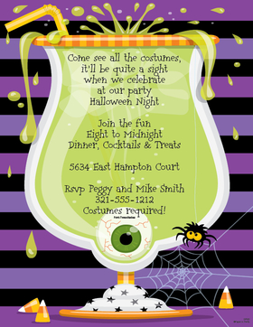 Halloween Potluck Invitation Wording was good invitation example