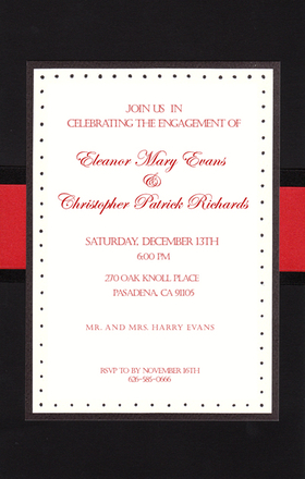 Business invitations general occasion formal black and red ribbon a great invitation if you are looking for a formal invitation for a business event or stopboris Images
