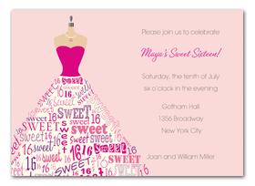 Invitations SWEET 16 - QUINCEANERA Invitations Sixteen ...