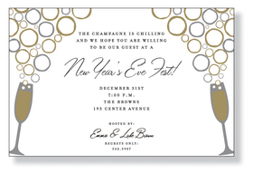ring in the new year with a bubbling toast and this perfectly coordinated invitation
