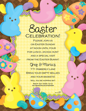 DISCONTINUED<br><br>Easter always brings jelly beans and easter eggs.  This fun laser paper is creatively decorated in fille eggs and colorful bunnies. Colored envelopes are available but are sold seperately.